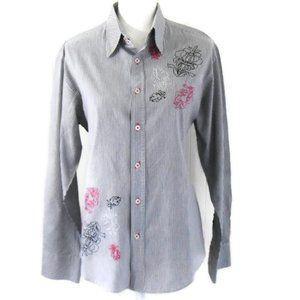 Chrome Mens Pinstripe Shirt